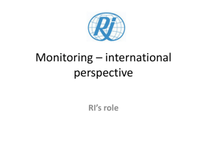 Monitoring * international perspective