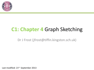 C1 - Chapter 4 - Sketching Curves