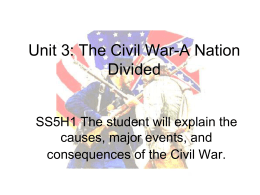 5th Grade Unit 4 Civil War