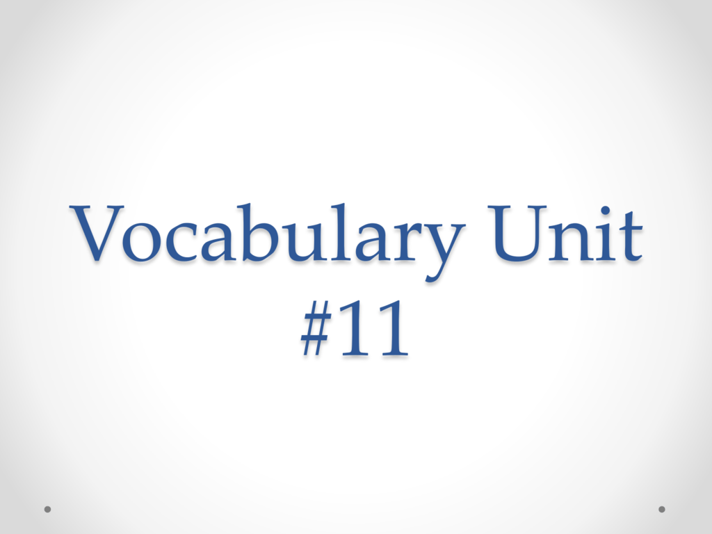 Vocabulary Unit 11 Discipline synonym omnipotent discipline attractive. studylib