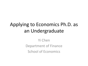 Applying to Economics Ph.D.
