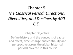 Chapter 5 The Classical Period: Directions, Diversities, and