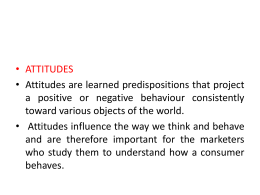 The Attitude-Toward-Behavior Model