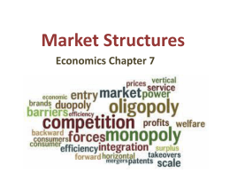 economics commentary on market structure French economists, ever since boisguillebert, had explained property in land by violence, and rousseau and many philosophers had expanded on (1′) the class structure of capitalist society may be reduced to two classes: the bourgeois class that owns, and the proletarian class that does not own.