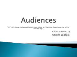 Audiences Presentation