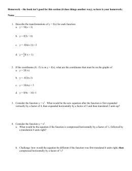 combininghwblank magon - Graphing Polynomial Functions Worksheet