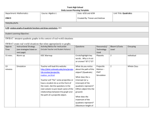 Travis High School Daily Lesson Planning Template Department