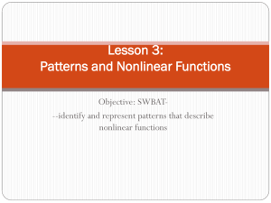 Lesson 3: Patterns and Nonlinear Functions