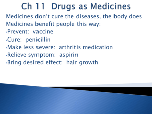 Ch 11 Drugs as Medicines
