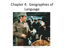 Chapter 4: Geographies of Language