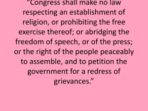 Freedom of the Press and Prior Restraint