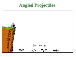 Projectile Motion - King's Senior Science