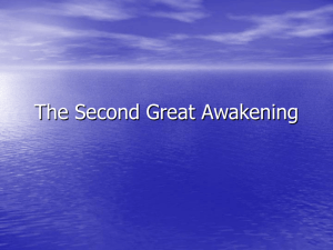 The Second Great Awakening - West Morris Mendham High School