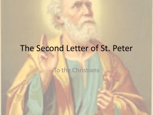 2 Peter Chapters 2 and 3 - St-jerome