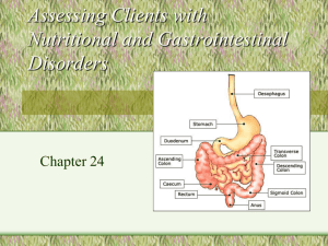 Assessing Clients with Nutritional Disorders