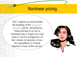 Nonlinear pricing