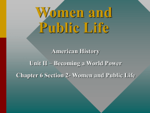 ch  16-2 women and public life