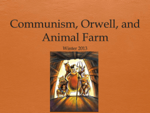 Communism, Orwell, and Animal Farm
