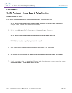 10_2_1_2 Worksheet - Answer Security Policy Questions