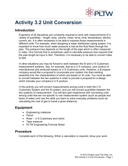 Activity 3.2 Unit Conversion Introduction