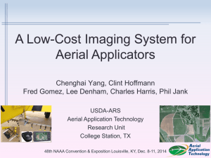 A Low-Cost Imaging System for Aerial Applicators (PowerPoint)