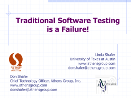 Traditional Testing is a Failure