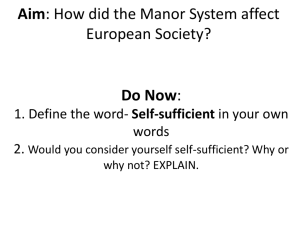 How did the Manor System affect European Society?