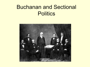 Buchanan and Sectional Politics
