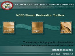 The Sand Bed Flux Calculator - National Center for Earth