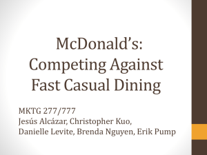 McDonald*s: Competing Against Fast Casual Dining
