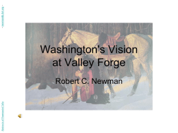Washington's Vision at Valley Forge