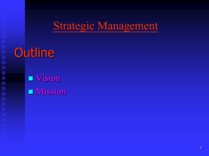 Strategic Management Concepts & Cases Eighth