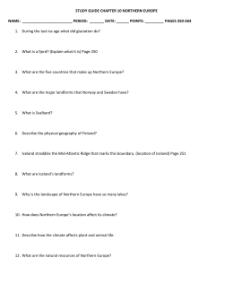 STUDY GUIDE CHAPTER 10 NORTHERN EUROPE NAME