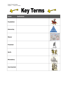 Copy the diagram showing the feudal hierarchy from page 18 in the