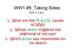 what were the causes of ww1
