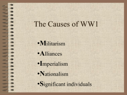 The Causes of WW1