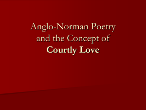 Anglo-Norman Poetry and the Concept of Courtly Love