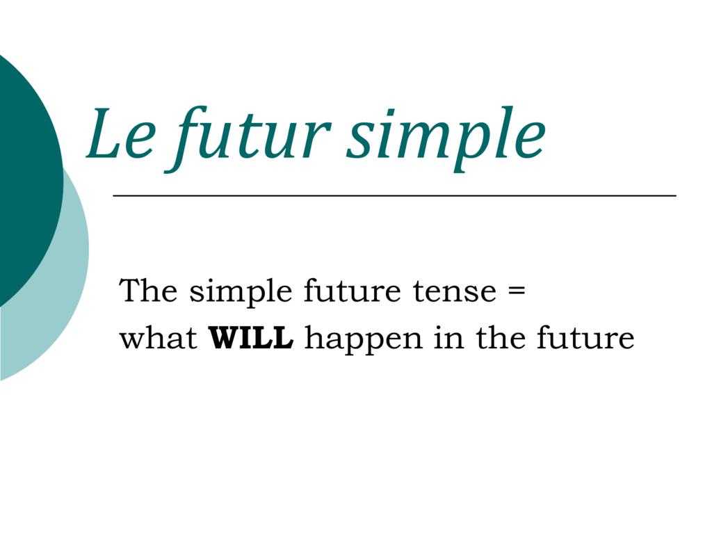 Le future simple