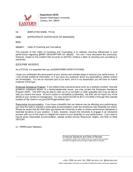 Letter of Counseling and Coaching-Template - EWU