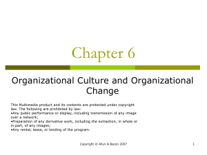 Chapter 6 Organizational Culture Climate. ppt
