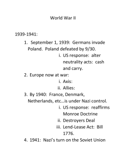 APUSH World War II notes