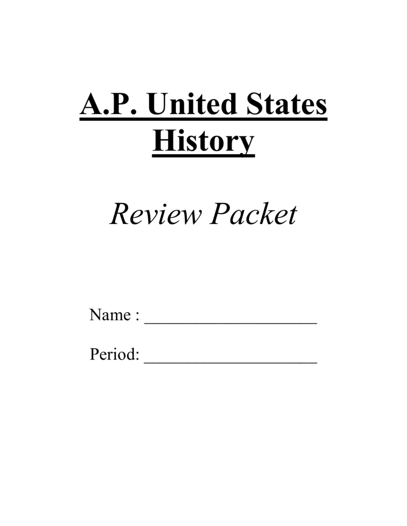 Apush Period 4 Review Packet