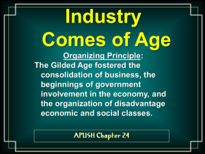 APUSH Chp. 24 Industry Comes of Age