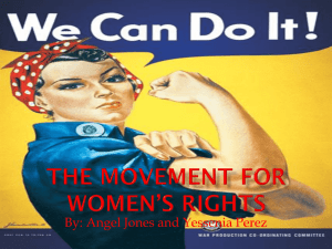 The Movement for Women*s Rights