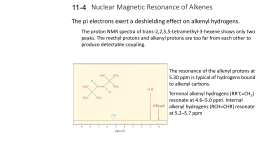 Nuclear Magnetic Resonance of Alkenes