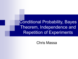 Conditional Probability, Bayes Theorem, Independence and