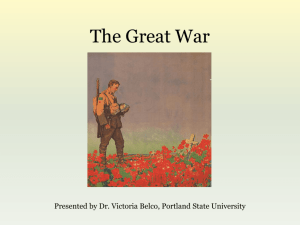 The Great War - Middle East Studies Center at Portland State