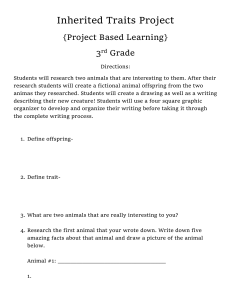 Inherited Traits Project {Project Based Learning} 3rd Grade