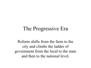 Progresssive Era powerpoint