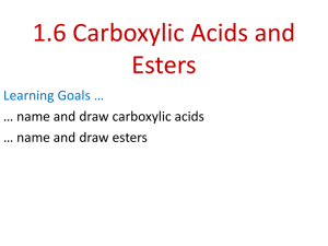 Carboxylic Acids - Chemistry at Loyola